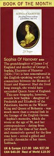 Sophia of Hanover: Winter Princess by J.N. Duggan. Majesty Magazine Book of the Month.
